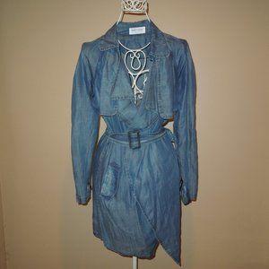 Pinkyotto Denim Trench Coat Jacket S